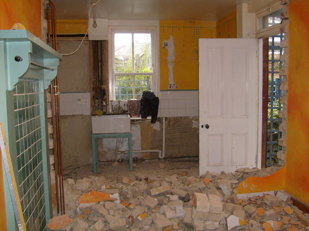 Dividing wall demolished
